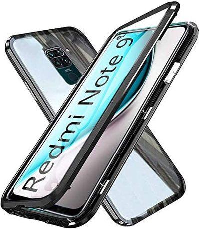 Etui 3w1 Magnetic GLASS 360° - Alu + Szkło do Xiaomi Redmi Note 9