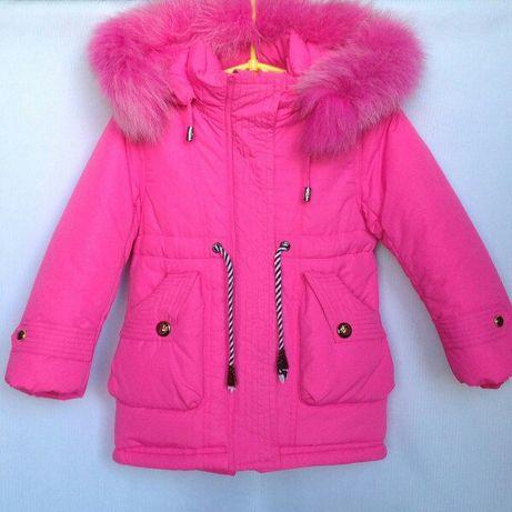 Зимняя куртка парка для девочек 2-7 лет. Фабричный Китай