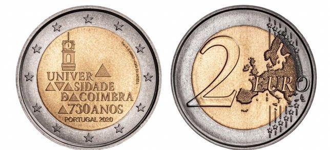 Moeda 2,00€ - 730 Anos Universidade Coimbra