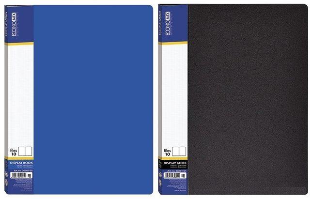 Папка пластиковая Economix А4 10 файлов