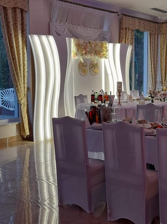 Ścianka weselna, ciężki dym, love, miłość dodatkowe oświetlenie sali