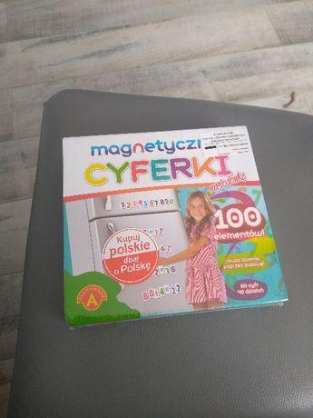 gra magnetyczne cyferki na lodówkę 100 elementów f. Aleksander
