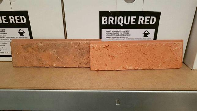 Kamień gipsowy czerwona cegła