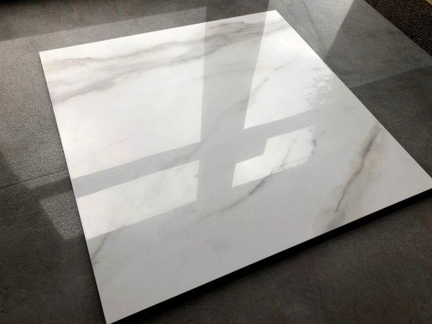 Marmurowe płytki 60x60 białe gat.1 - gres jak KAMIEŃ WYSOKI POŁYSK