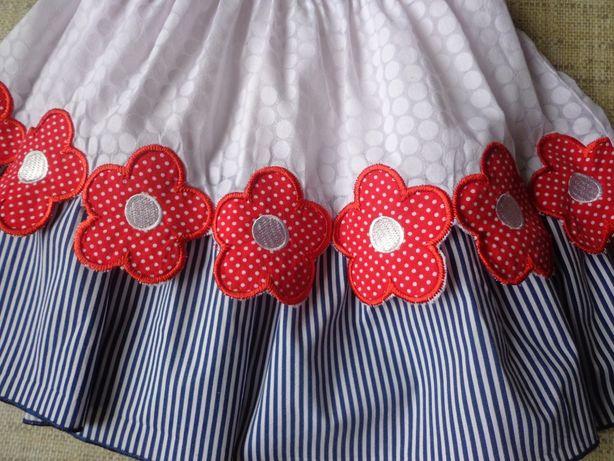 нарядное летнее платье на девочку 2-3 лет