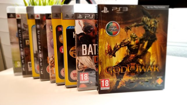 Conjunto de 9 jogos Playstation 3 - Incluído God of War 3 Ed. Colect.
