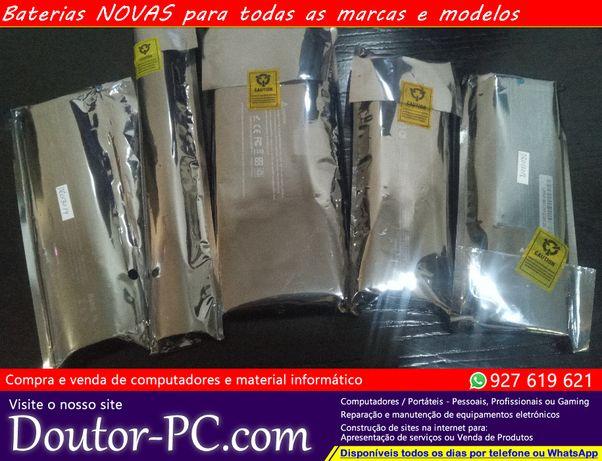 Baterias portatil NOVAS Acer Asus Toshiba Samsung HP Lenovo Dell Mac