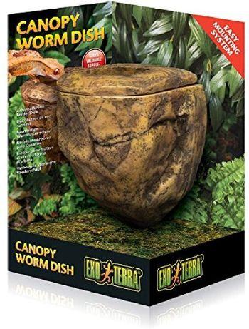 Canopy Worm Dish Wisząca miska na żywe owady 50% CENY