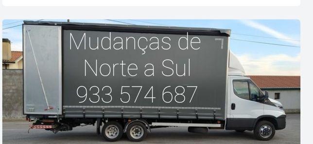 Transportes de mudanças Aluguer de carrinha com motorista 15euros hora