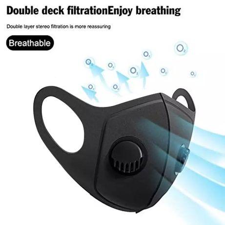 Многоразовая маска с двойным клапаном