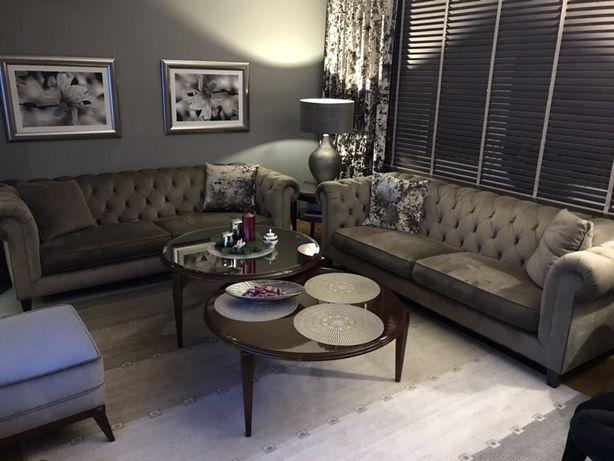 Ekskluzywne meble zestaw sofa fotel