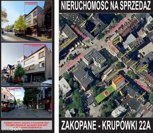 Nieruchomość Zakopane Krupówki 22a działka+budynki