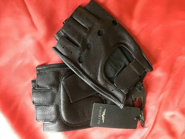Перчатки мужские водительские без пальцев из кожи оленя Fioretto.