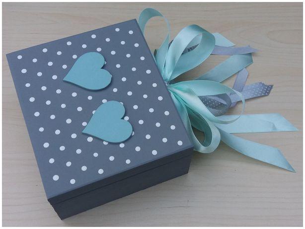 PUDEŁKO ŚLUBNE Prezent na ślub tiffany blue dla Młodej Pary