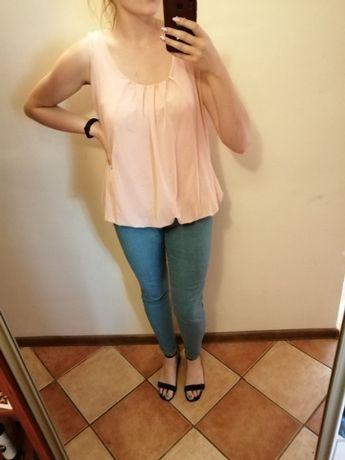 Różowa, luźna koszulka