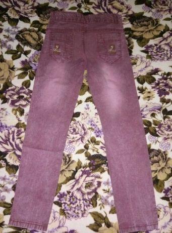 брюки, ткань под джинс, 9-10 лет