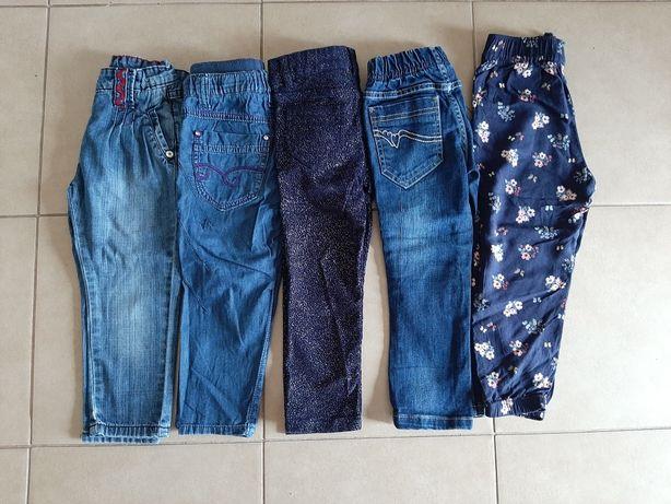 Zestaw spodni r. 98, spodnie, h&m, dziewczynka