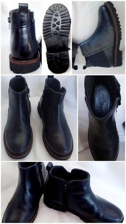 Zara skorzane buty, sztyblety jak nowe 32 skora