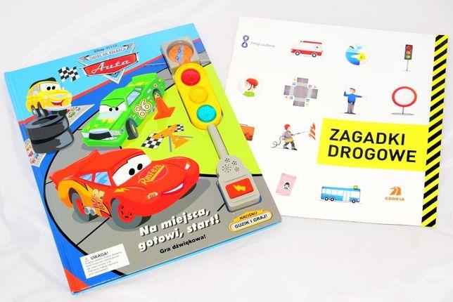 Gra planszowa Auta (4w1) + książeczka o ruchu drogowym