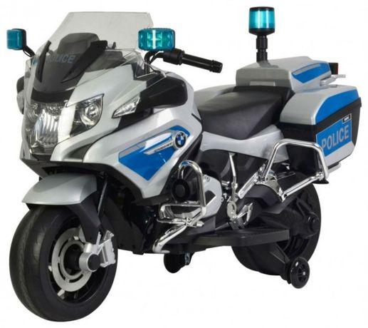MOTOR dla dzieci BMW POLICJA syreny światła koła EVA (212.SR)