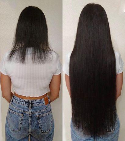 Наращивания волос микронаращивание
