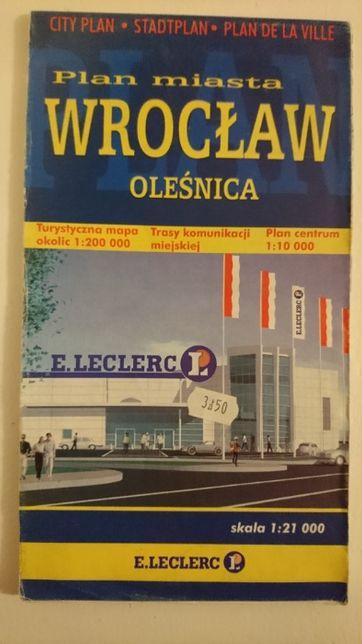 Plan miasta Wrocław. Oleśnica 1:10 000 1:200 000