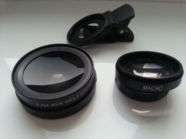 Uniwersalny super duży obiektyw 2w1 dla smartfona, Wide, Makro
