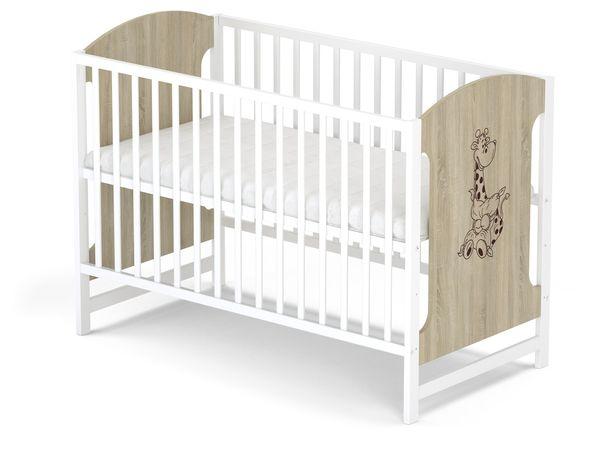 Łóżeczko dziecięce drewniane z szufladą