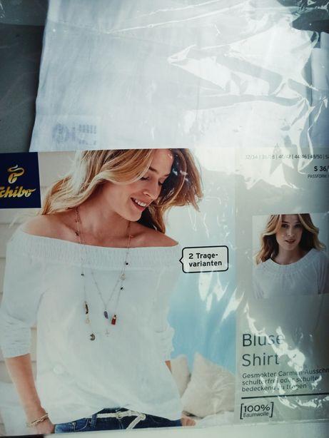 Bawełniana bluzka tchibo