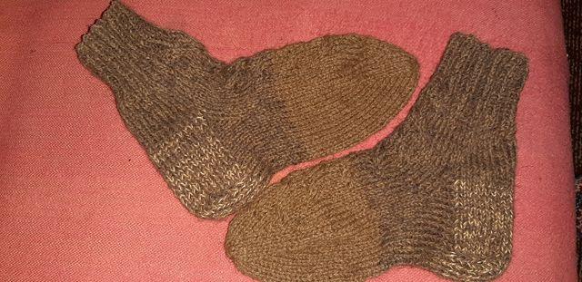 Носочки из верблюжей шерсти