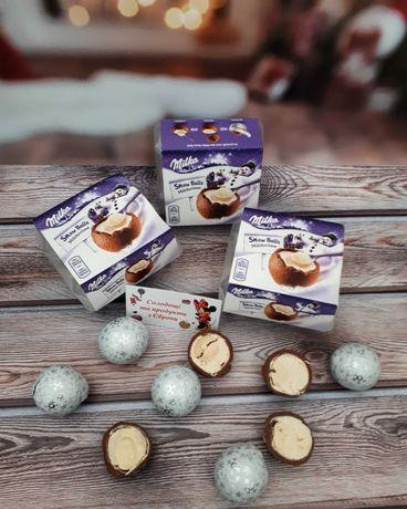 Milka snow balls, шоколадні сніжки, милка, мілка