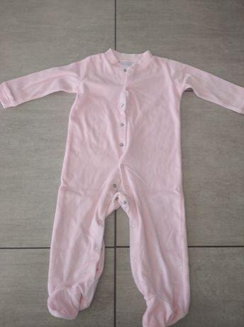 Pajacyk piżamka welurowa r. 80