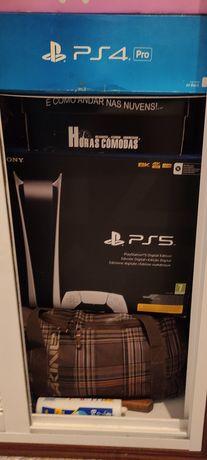 Vendo PS5 Digital nova e Monitor HP de 32 Polegadas ambos fat/garantia