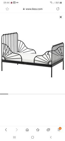 Łóżko rozsuwane czarne