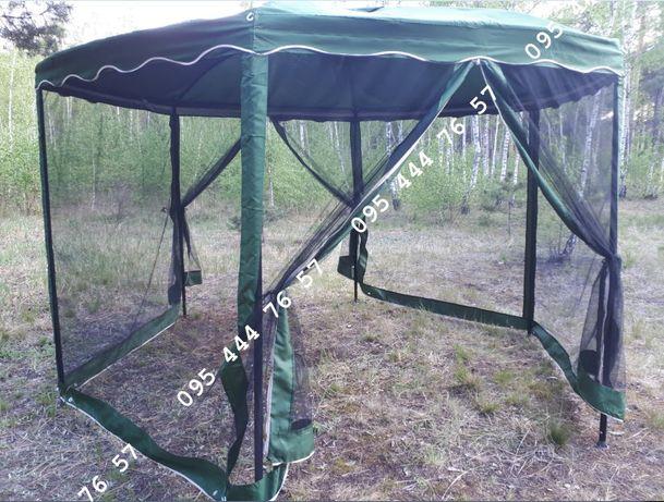 Шатер стальной каркас с москиткой, павильон садовый, палатка пасика