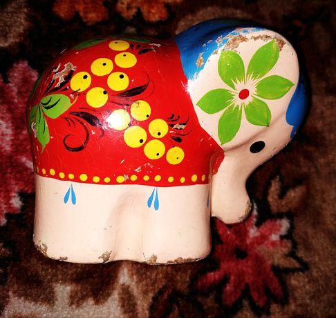 Слон игрушка сувенир СССР