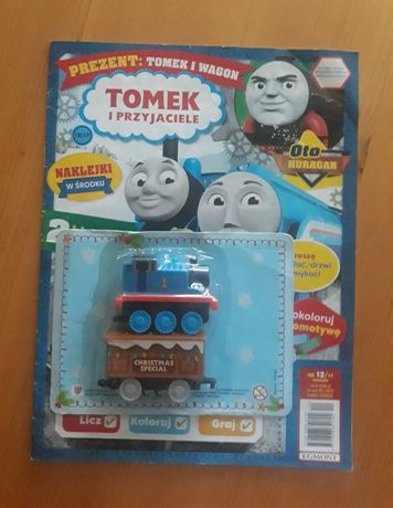 Gazetka dla chłopca Tomek i przyjaciele z ciuchcią Tomek i wagonik
