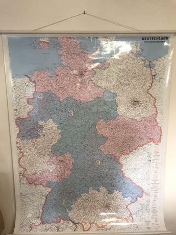 Mapa ścienna mapy kodów pocztowych europa niemcy czechy logistyka