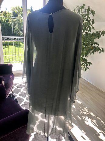 Zjawiskowa sukienka 100% jedwab Włoska S M Nowa