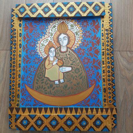 Ikona ludowa Matka Boska z Dzieciątkiem