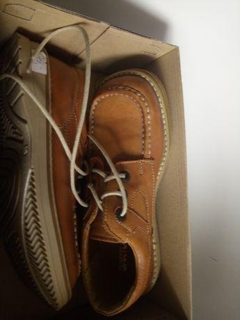 Buty skórzane chłopięce Bartek nowe