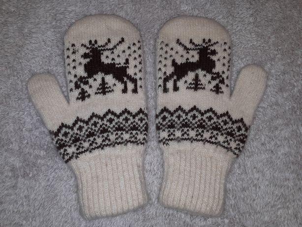 Рукавиці, варежки, перчатки, шерсть, зимние