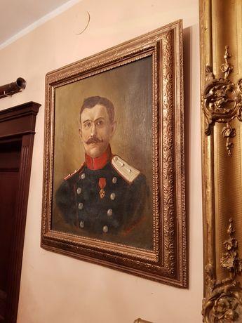 XX w z 1907 rok Portret Francuskiego  Oficera Ole na Płótnie FRANCJA !