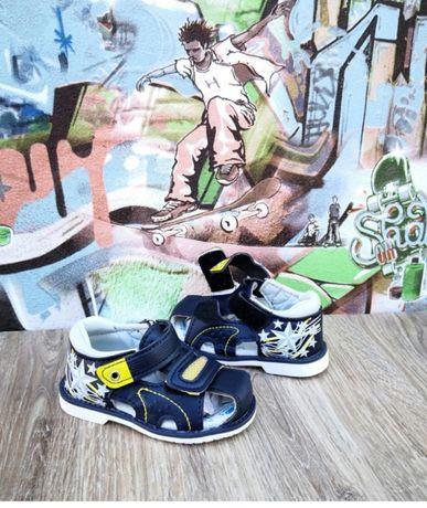 Детские босоножки для мальчика 24р.