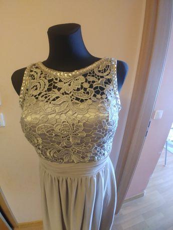 Suknia sukienka szara popielata maxi długa Eva lola też ciążowa