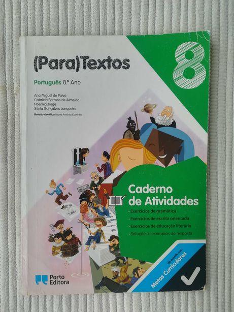 (Para)textos 8 - caderno de atividades (portes grátis)