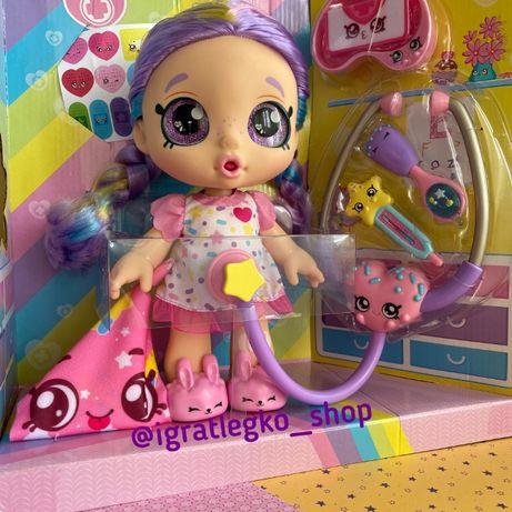 Интерактивная болеющая кукла Kindi Kids Shiver 'N' Shake Rainbow Kate