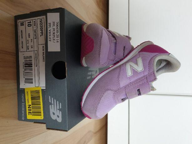 Buty dla dziewczynki New Balance rozmiar 27 1/2