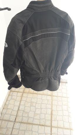 Casaco de mota de couro shoei