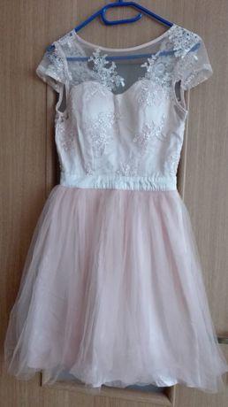 Sukienka koronkowa , rozm. xs, małe S